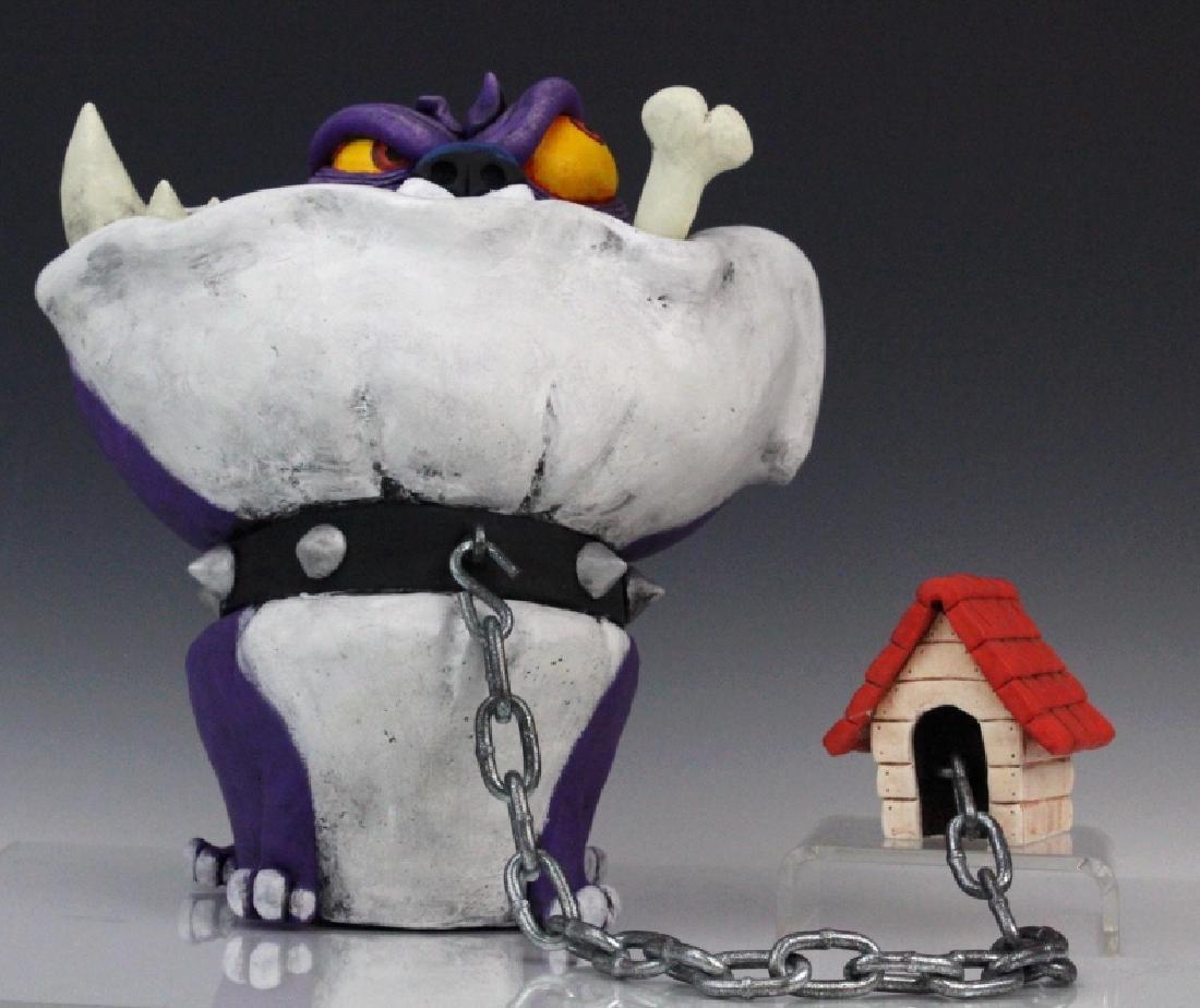 OSCAR GARCIA SEGUI Bulldog Dog Art Pottery Sculpture