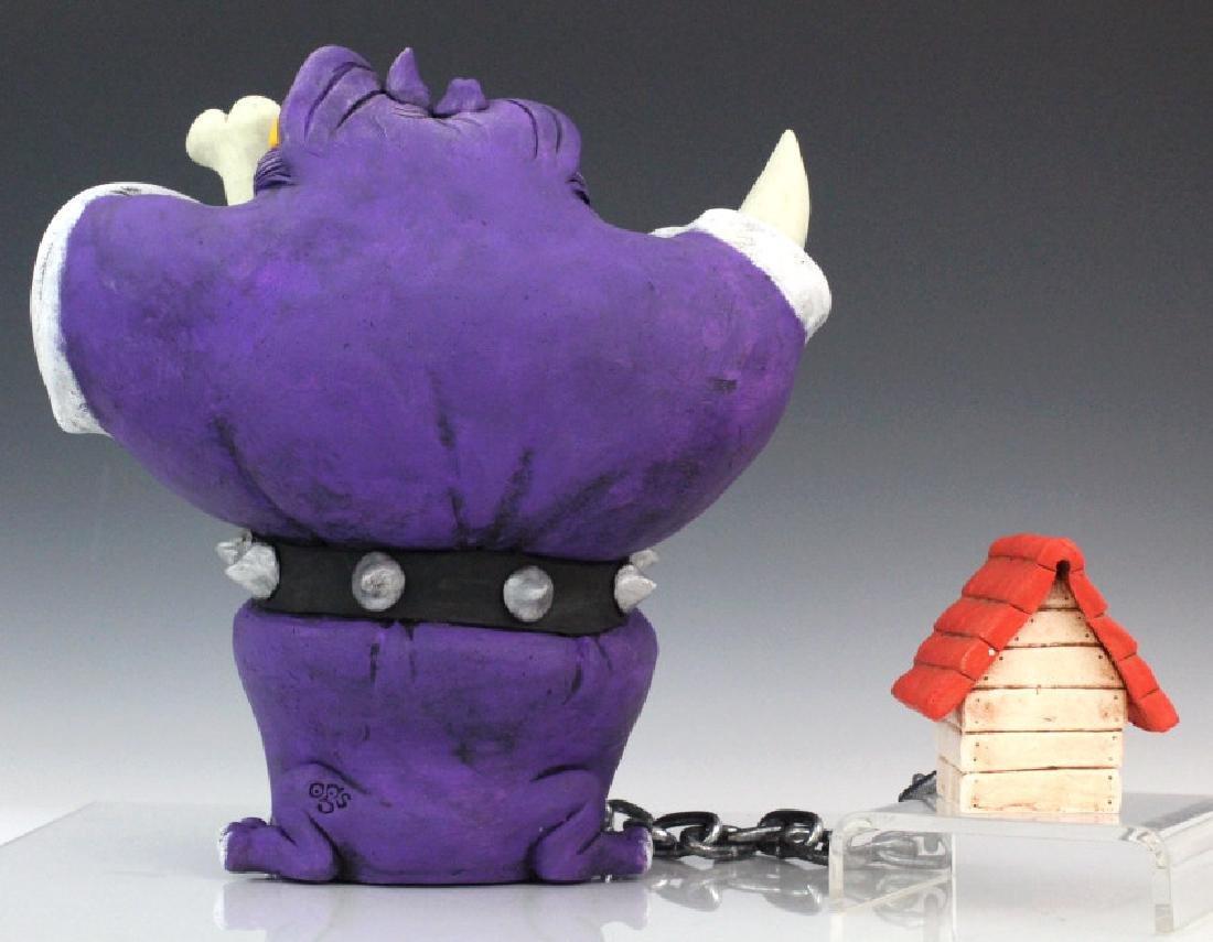 OSCAR GARCIA SEGUI Bulldog Dog Art Pottery Sculpture - 6