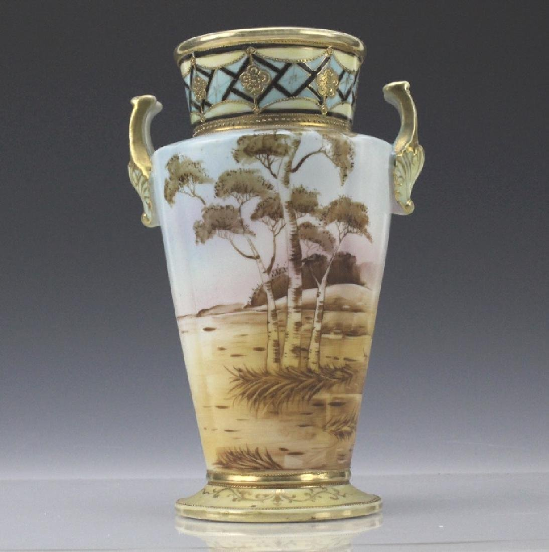 Imperial Nippon Painted & Gilt Decorated Porcelain Vase