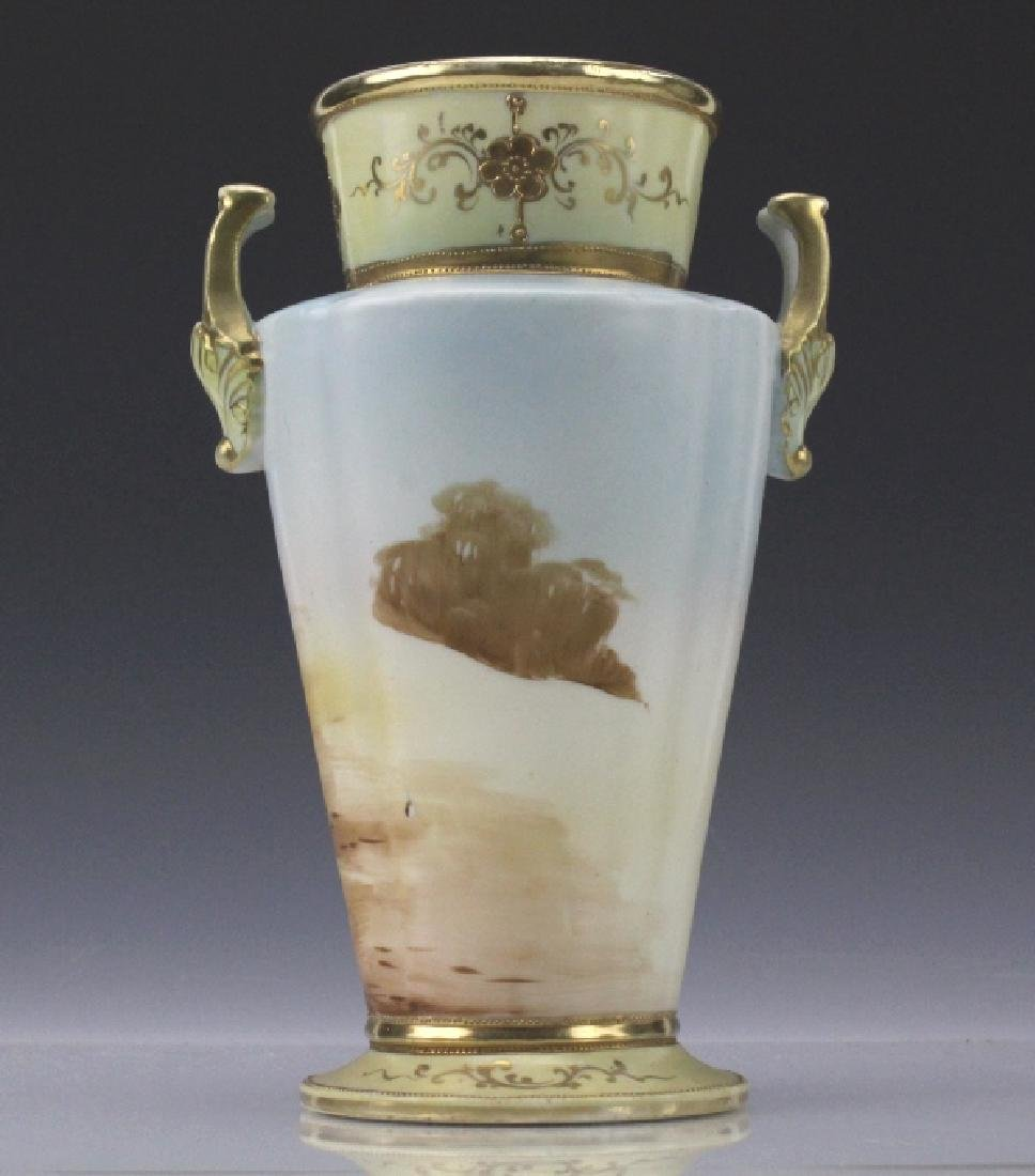 Imperial Nippon Painted & Gilt Decorated Porcelain Vase - 2