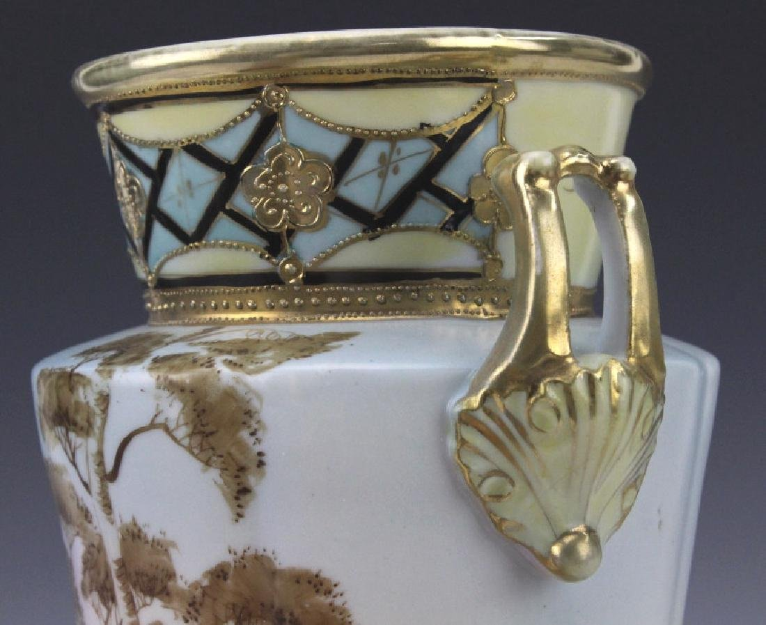 Imperial Nippon Painted & Gilt Decorated Porcelain Vase - 3