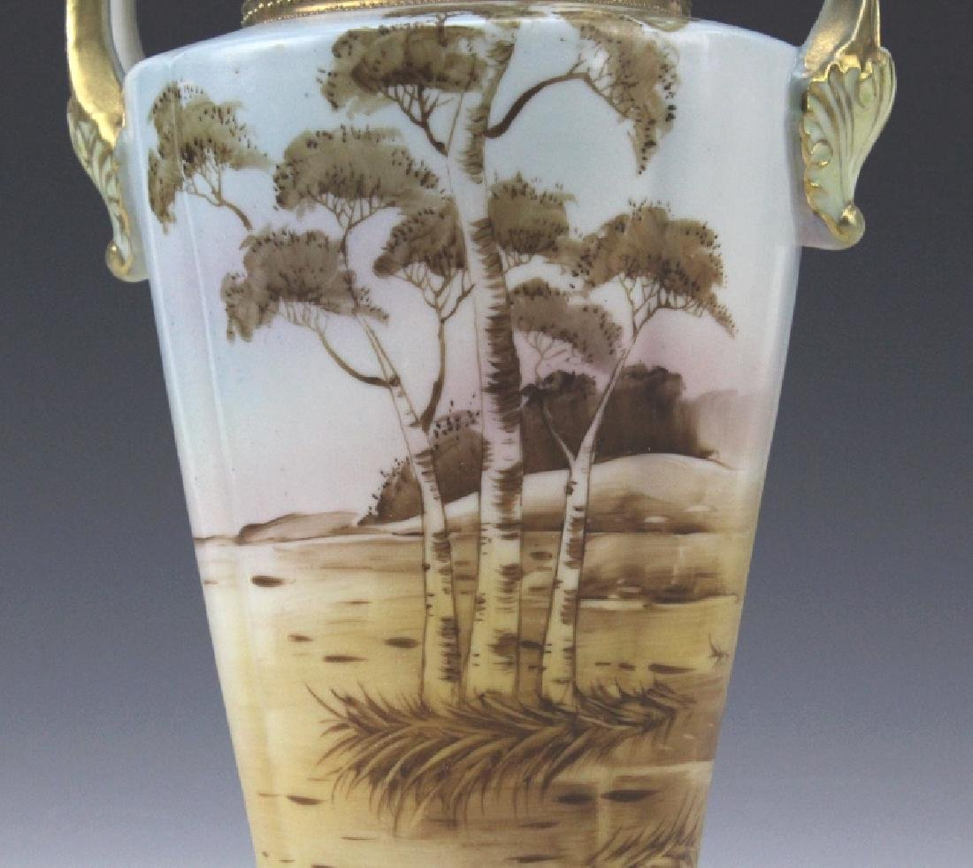 Imperial Nippon Painted & Gilt Decorated Porcelain Vase - 4