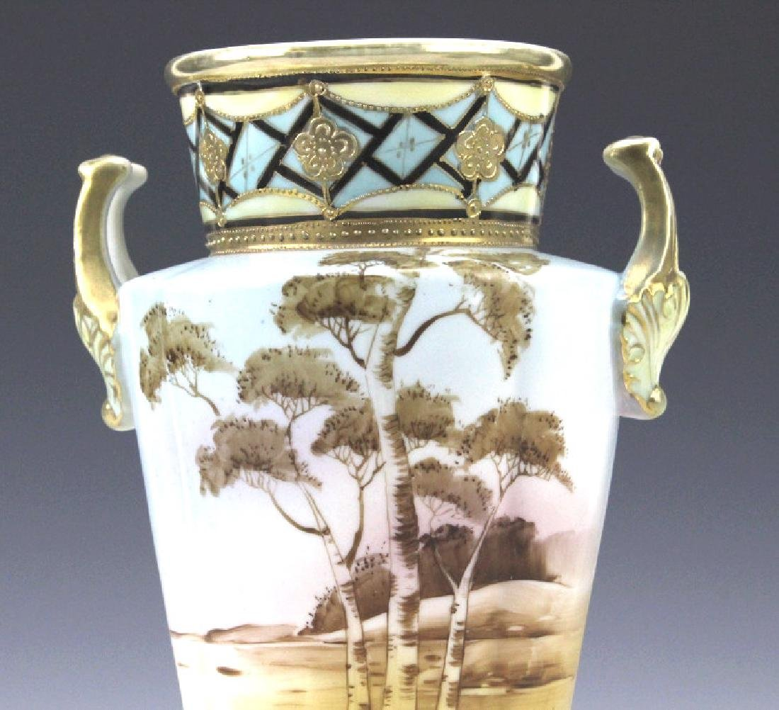 Imperial Nippon Painted & Gilt Decorated Porcelain Vase - 6
