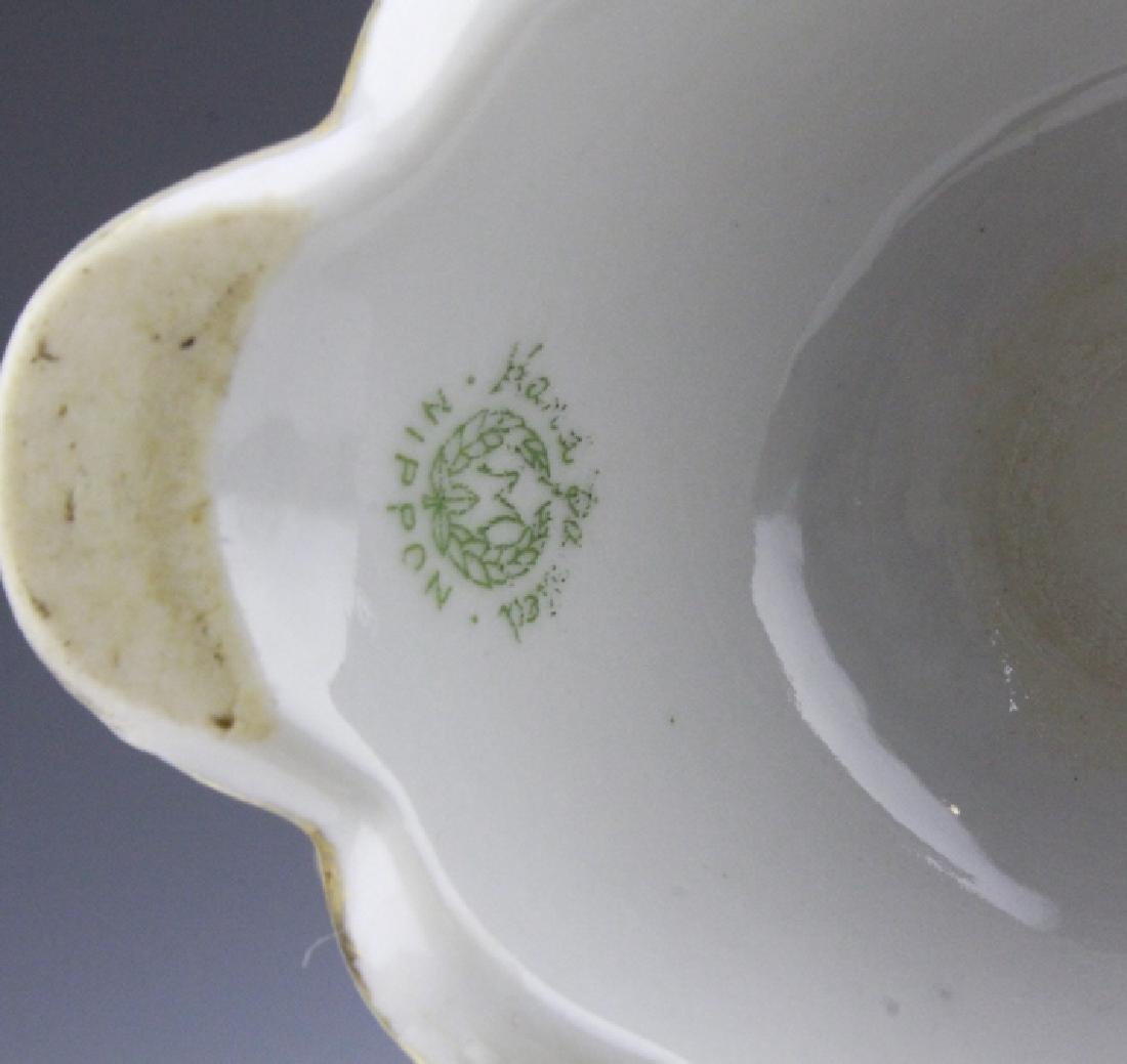 Fine Nippon Decorated Footed Landscape Porcelain Vase - 10