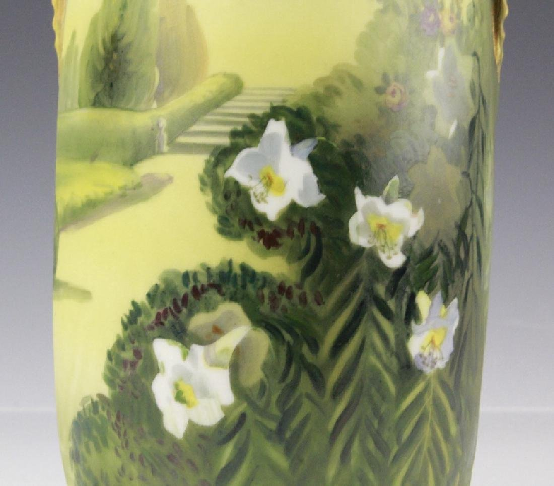 Nippon Hand Painted, Gilt Decorated Landscape Vase - 2