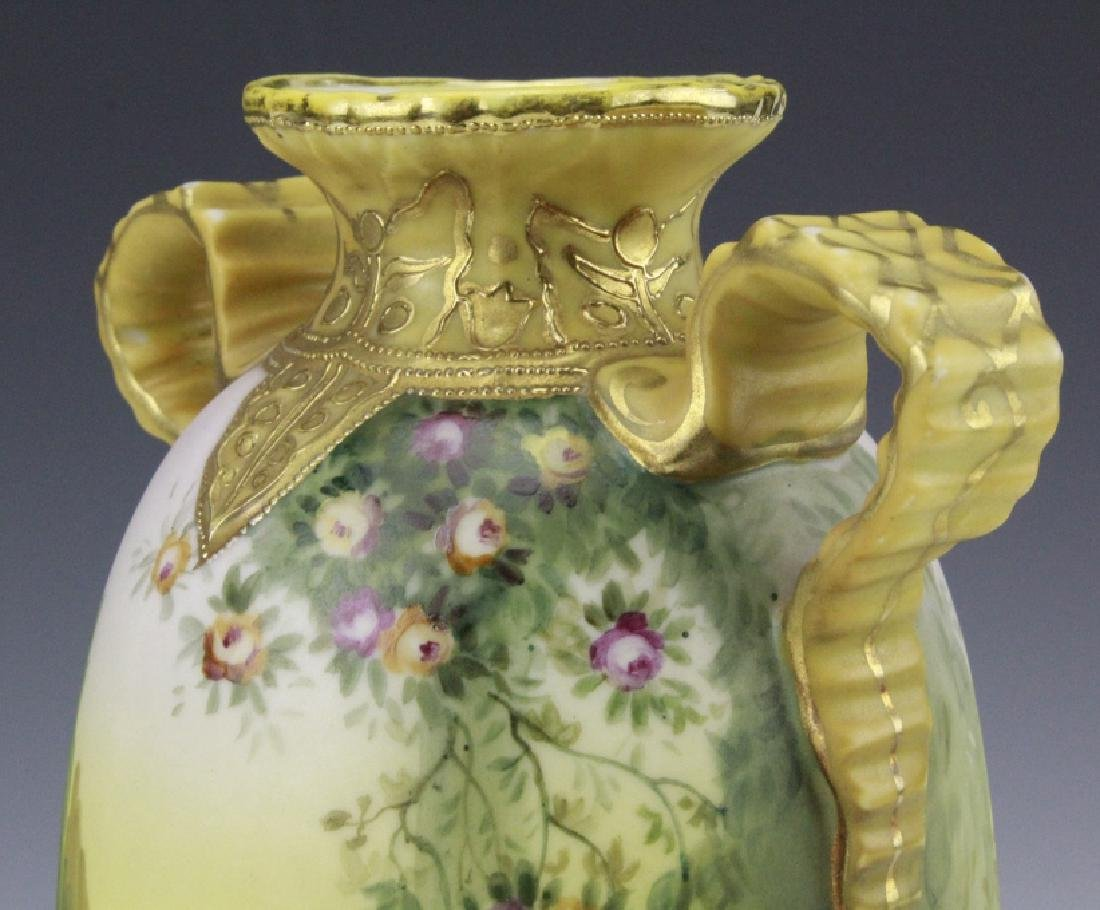 Nippon Hand Painted, Gilt Decorated Landscape Vase - 6