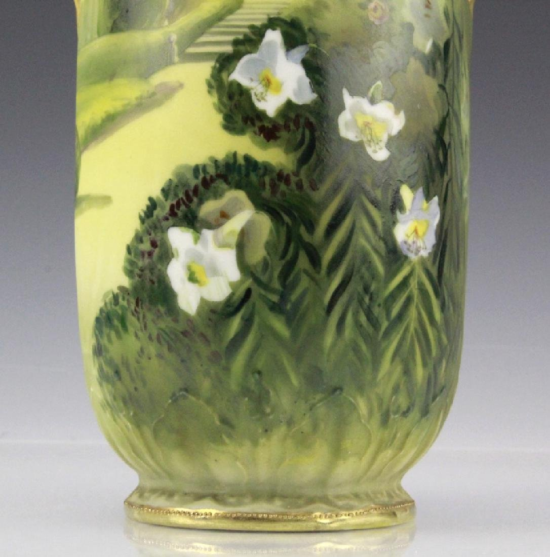 Nippon Hand Painted, Gilt Decorated Landscape Vase - 7