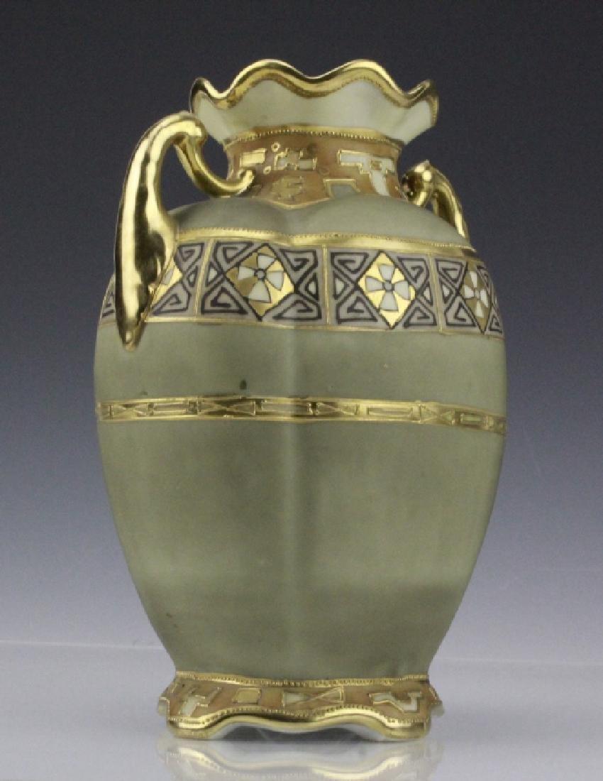 Antique Nippon Painted & Gilt Gourd Form Porcelain Vase - 4