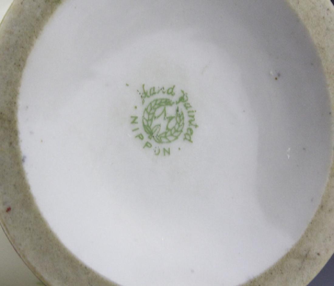 Antique Nippon Floral Gilt Decorated Urn Porcelain Vase - 9