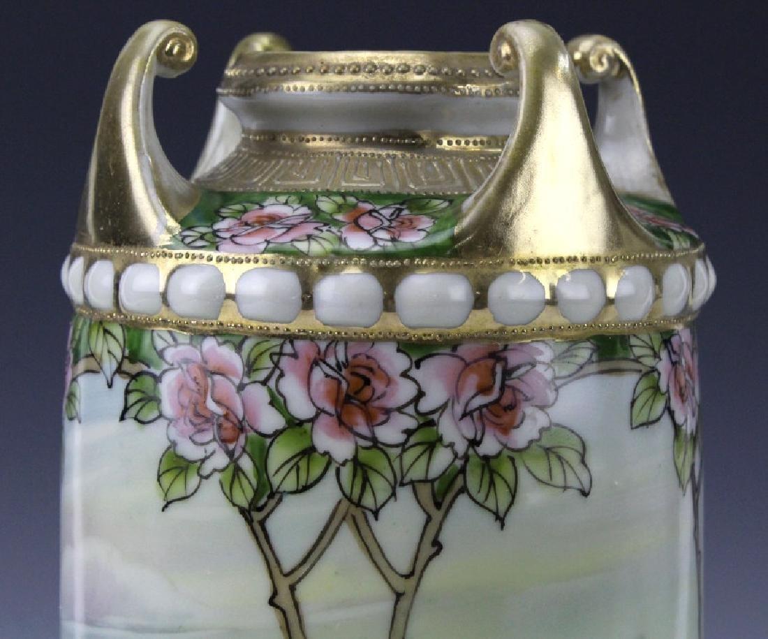 Nippon Japanese Porcelain Landscape Porcelain Vase - 3