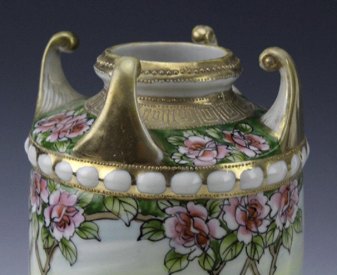 Nippon Japanese Porcelain Landscape Porcelain Vase - 4