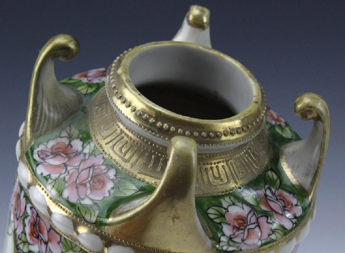 Nippon Japanese Porcelain Landscape Porcelain Vase - 6