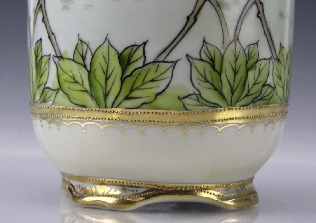 Nippon Japanese Porcelain Landscape Porcelain Vase - 7
