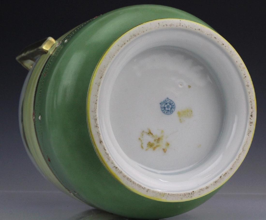 Nippon Porcelain Painted Landscape Urn Porcelain Vase - 7