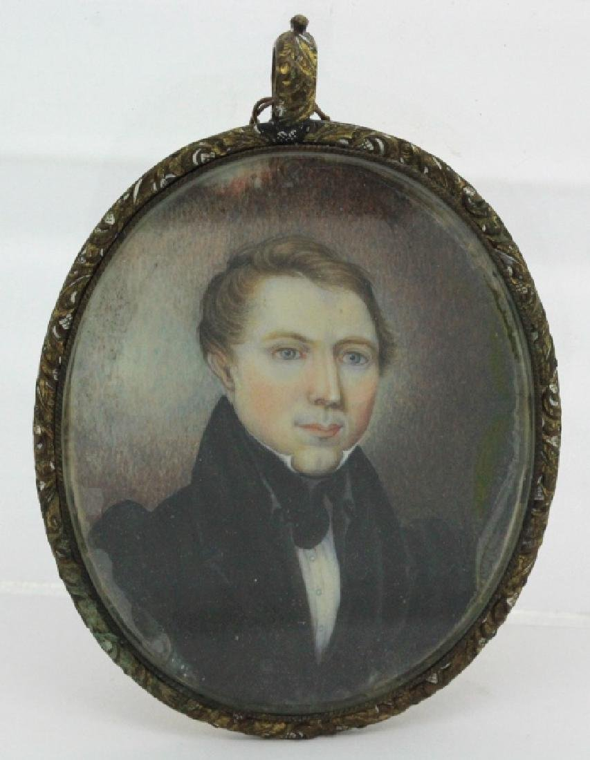 Early 19th C American Portrait Miniature Painting