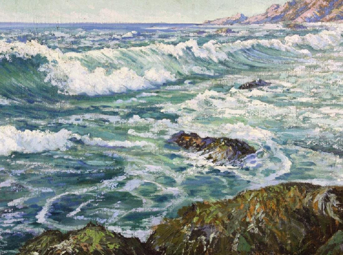 Walter Barron Currier California Seascape Painting