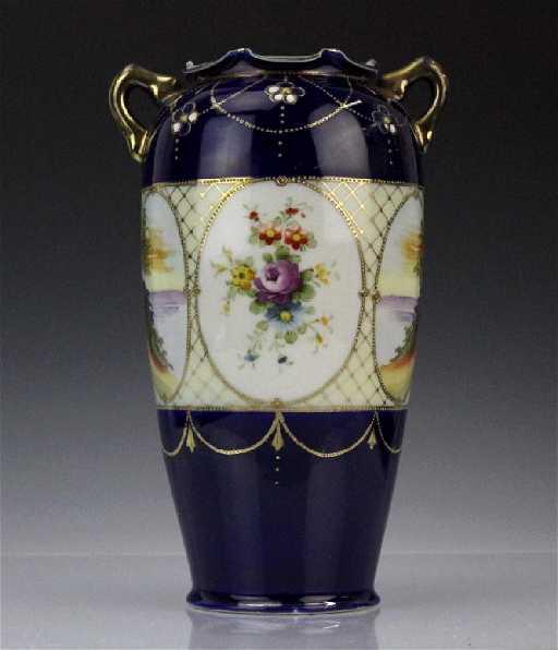 Kinjo China Hand Painted Scene Nippon Vase