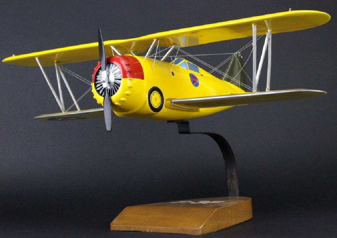 Grumman F3F-1 Carrier Fighter Borne Aircraft Model