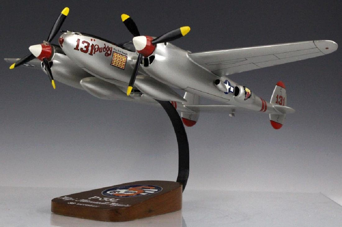 P-38L Major Thomas B. McGuire Pudgy Aircraft Model