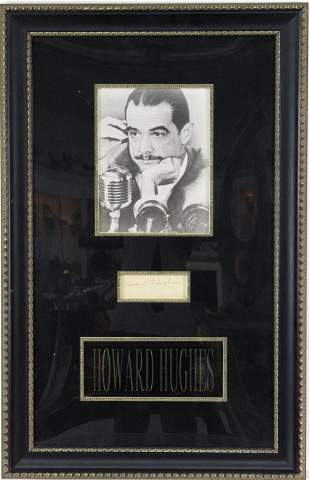 Howard Hughes B&W Photograph w/ Original Signature