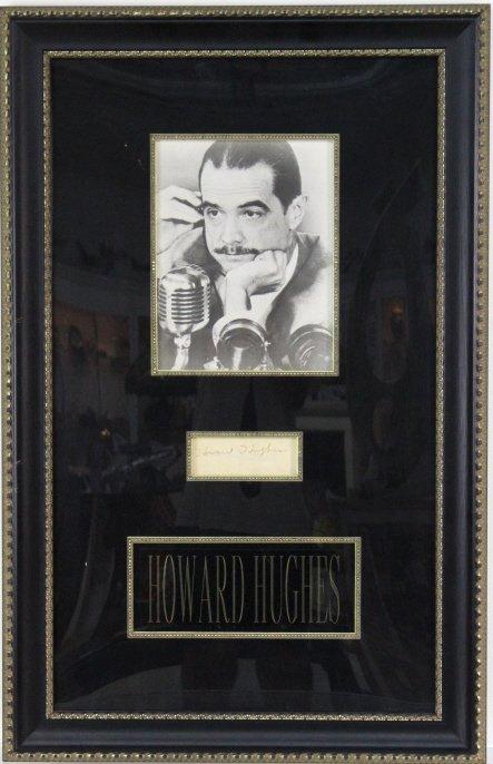 Howard Hughes B&W Photograph w/ Original Signature