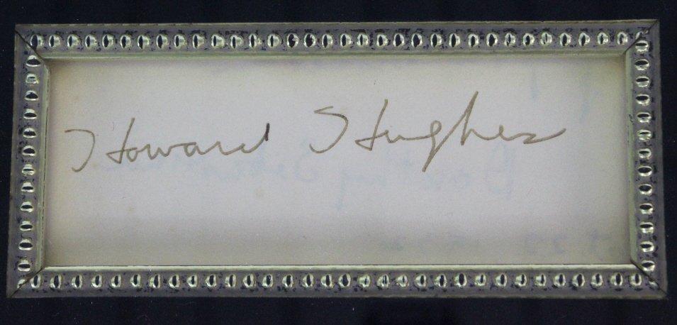 Howard Hughes B&W Photograph w/ Original Signature - 2