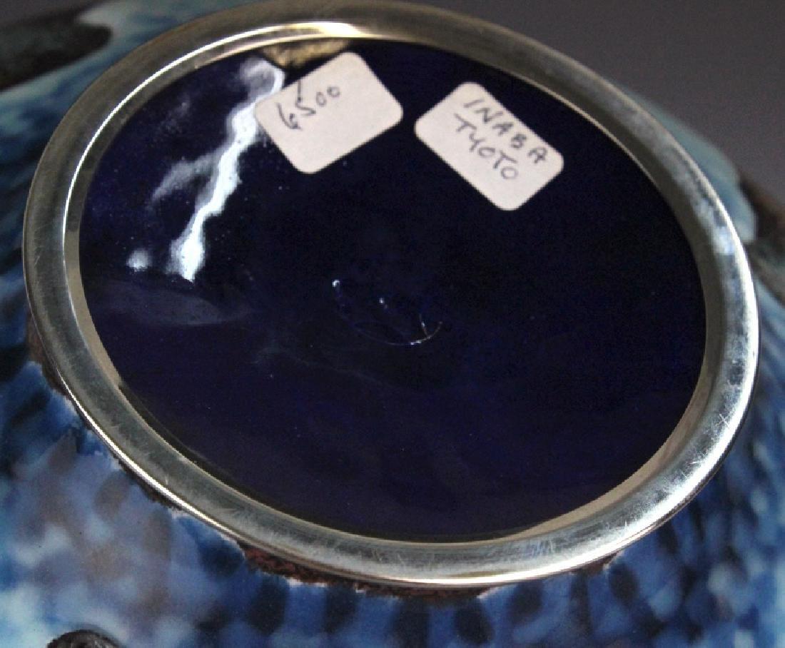 Signed Japanese Closonne Enamel Vase - 9