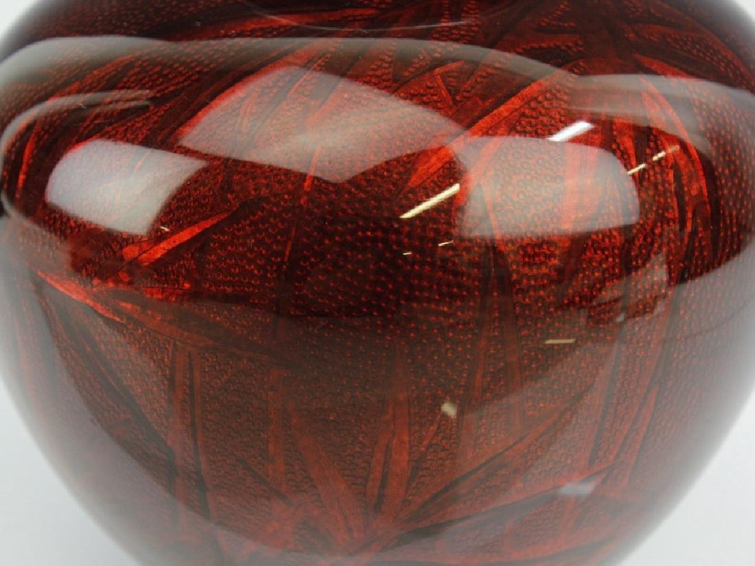 Ando Jubei Japanese Cloisonne Pigeon Blood Vase - 3