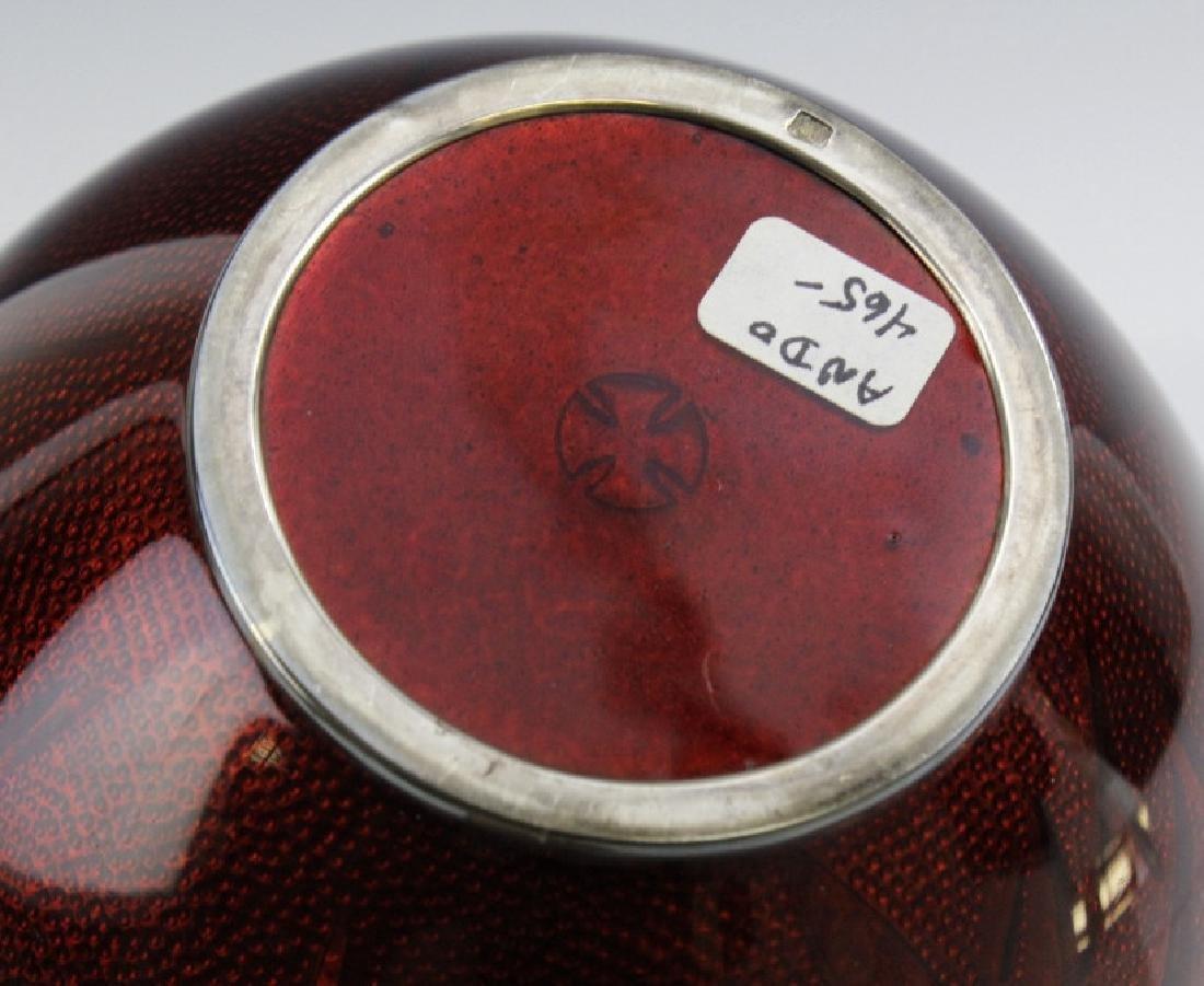 Ando Jubei Japanese Cloisonne Pigeon Blood Vase - 6
