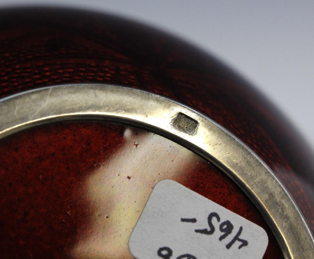 Ando Jubei Japanese Cloisonne Pigeon Blood Vase - 7