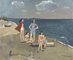 Signed NICOLAI CIKOVSKY Russian Landscape Oil Painting