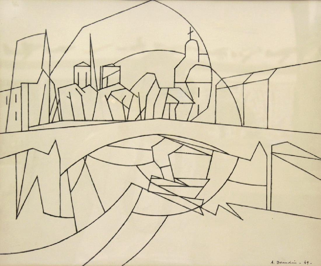 Andre Beaudin (1895 - 1979)  French Ink On Paper