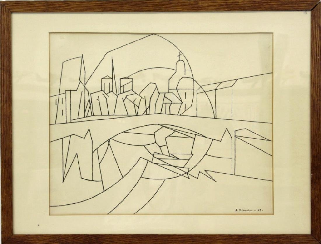 Andre Beaudin (1895 - 1979)  French Ink On Paper - 2