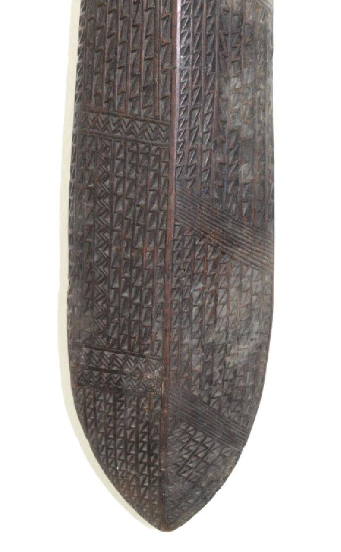 Carved Polynesian Tonga Wood War Club - 5