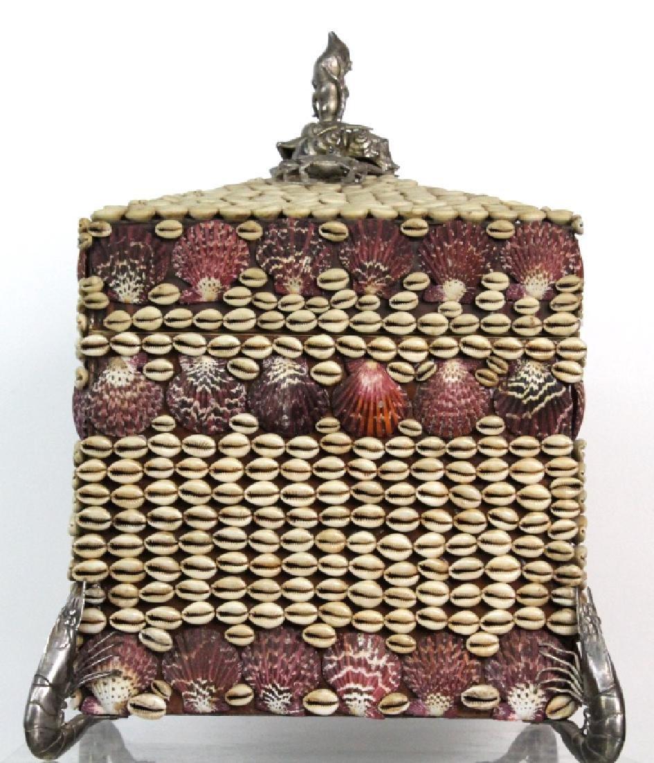 Maitland Smith Large Seashell Box with Silvered - 6