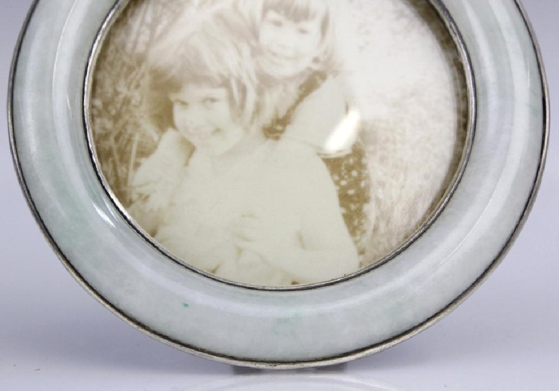 Japanese Yamanaka & Co Silver Green White Jade Frame - 3