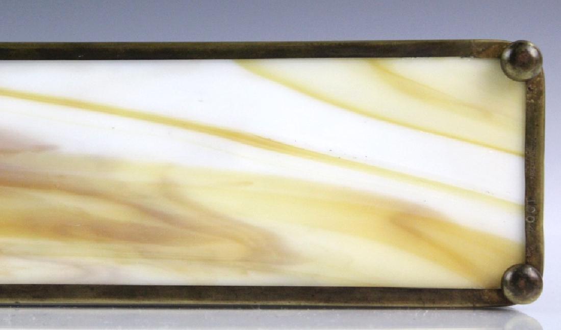 Signed Tiffany Studios Grapevine Art Glass Pen Tray - 4