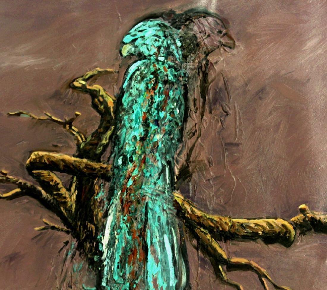 "Jim Sullivan The Prey 53""x84"" Painting BASS MUSEUM - 2"