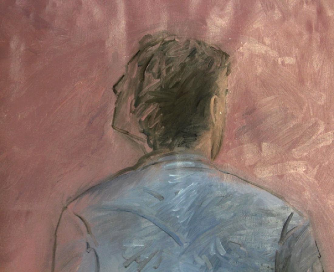"Jim Sullivan The Prey 53""x84"" Painting BASS MUSEUM - 3"