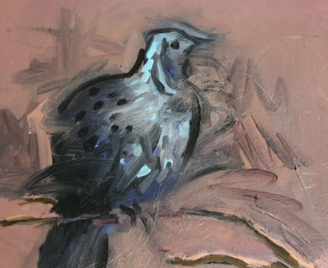 "Jim Sullivan The Prey 53""x84"" Painting BASS MUSEUM - 5"