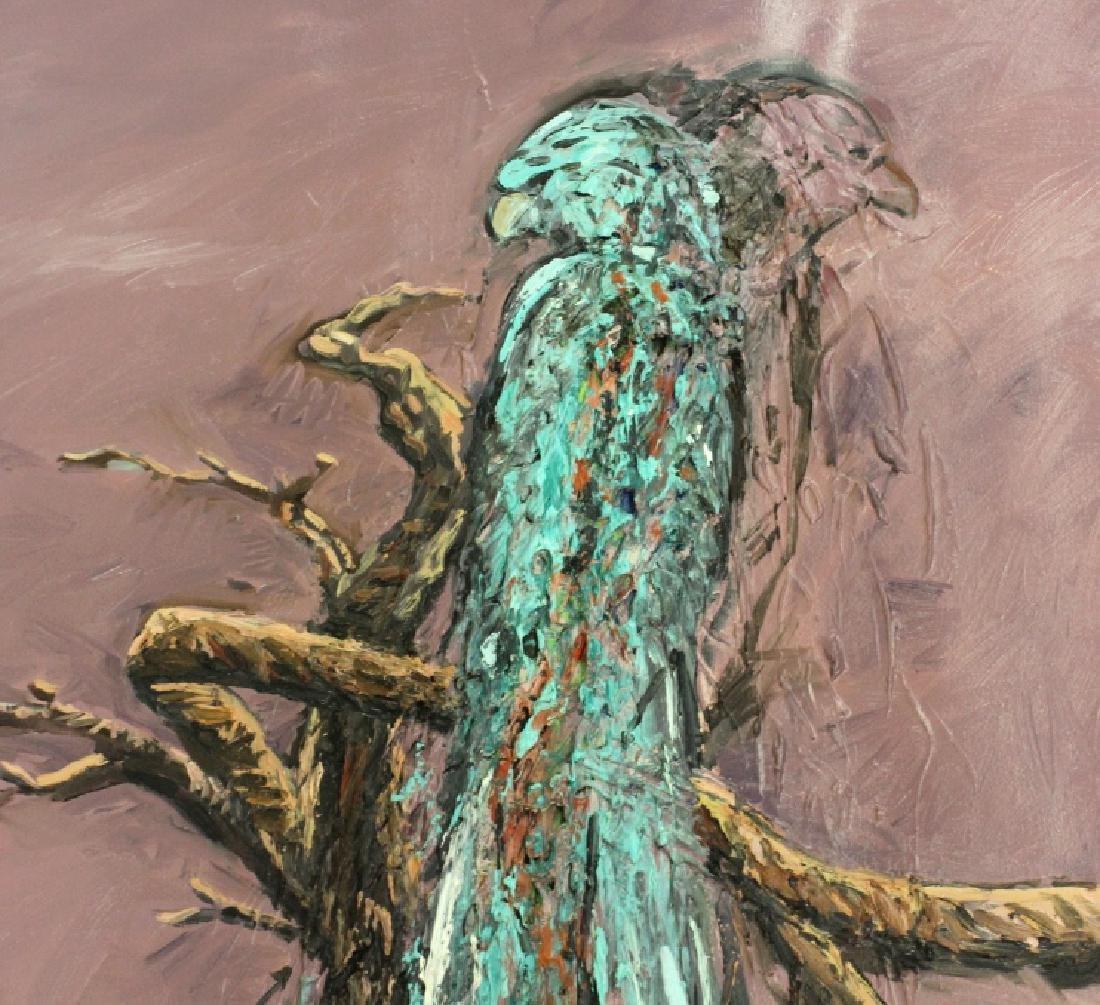 "Jim Sullivan The Prey 53""x84"" Painting BASS MUSEUM - 6"