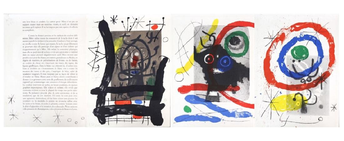 3 Joan Miro Lithographs Miro Book 1956 from BASS MUSEUM