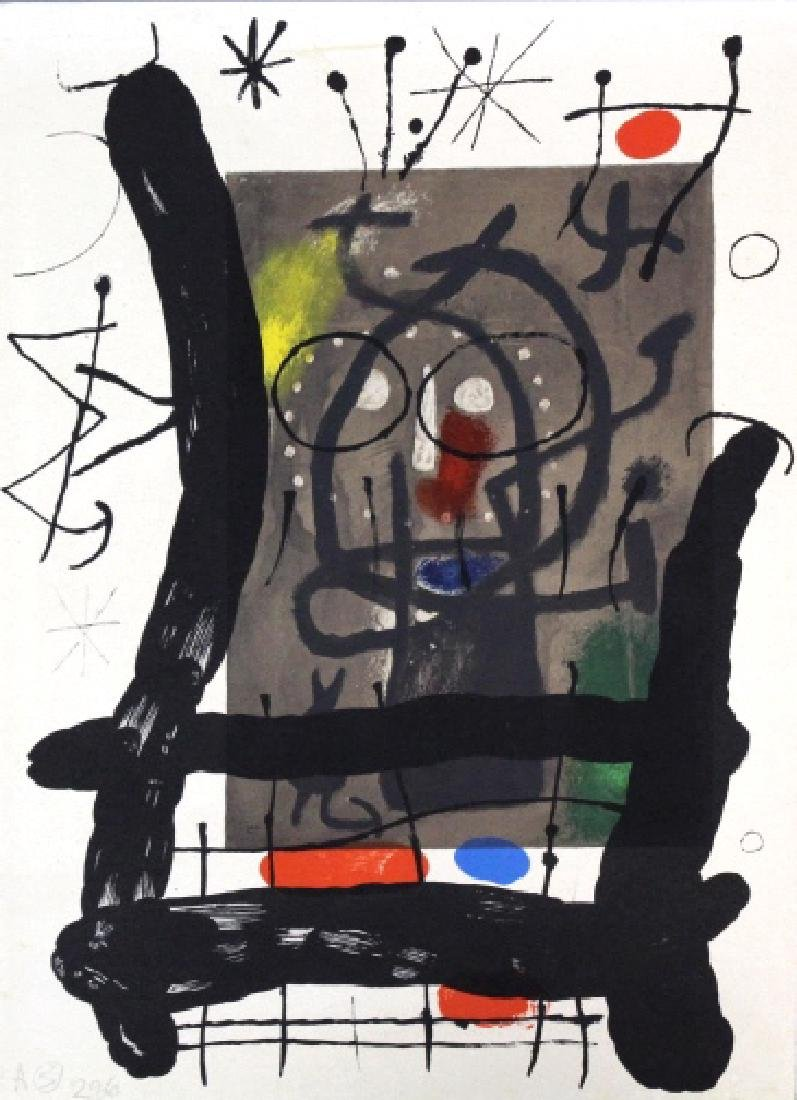 3 Joan Miro Lithographs Miro Book 1956 from BASS MUSEUM - 4