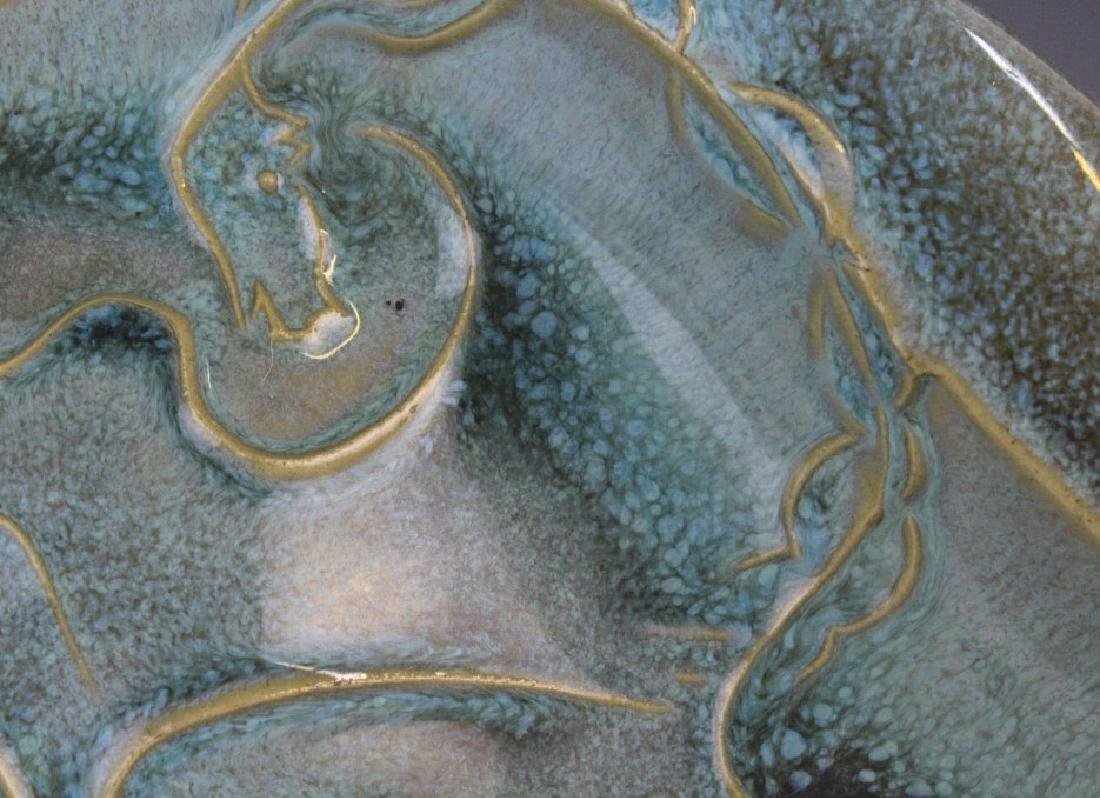 Robert Cronbach Prancing Stallion Pottery Dish - 5