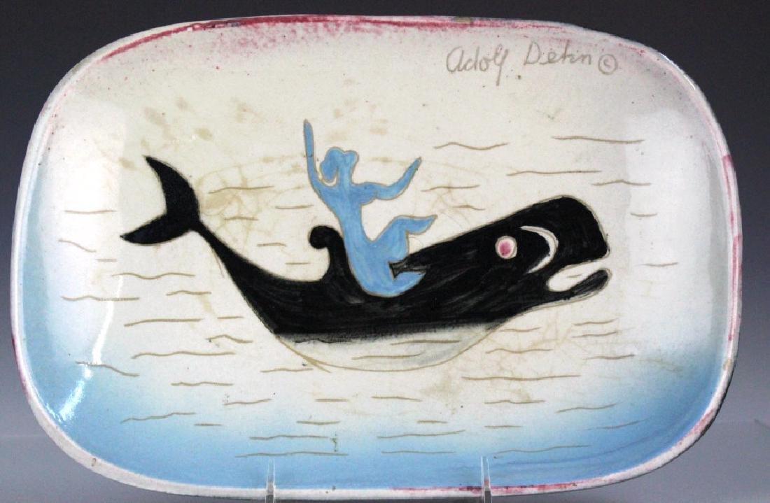 Adolf Dehn Stonelane Ceramic Nautical Nymph Bowl