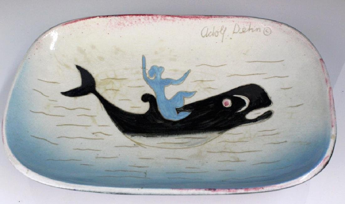 Adolf Dehn Stonelane Ceramic Nautical Nymph Bowl - 4