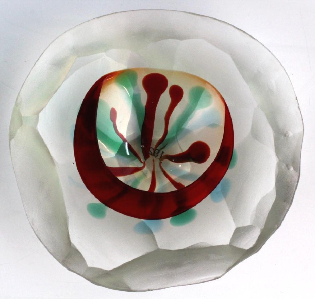 Italian Cut Art Glass Bowl Att. to Fulvio Bianconi