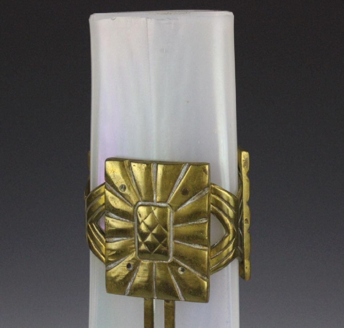 Style Of Loetz Studio Glass Vase with Metal Mount - 3