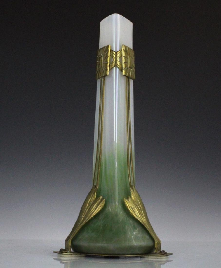 Style Of Loetz Studio Glass Vase with Metal Mount - 5