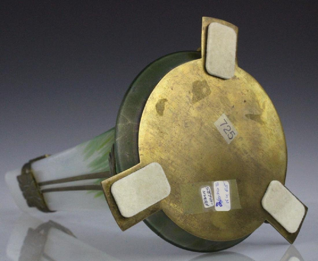 Style Of Loetz Studio Glass Vase with Metal Mount - 8